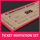 Ticket Invitation Set - GraphicRiver Item for Sale