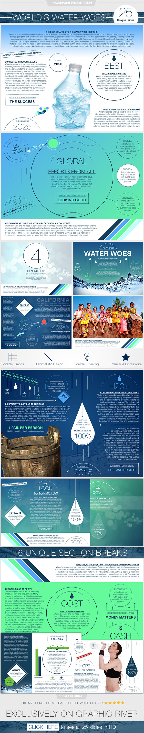 GraphicRiver World s Water Woes PowerPoint Presentation 11394670