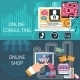 Online Shopping And Consulting Service - GraphicRiver Item for Sale
