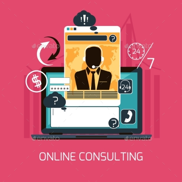 GraphicRiver Online Consulting Concept 11394785