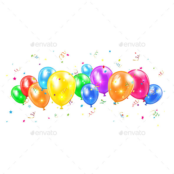 GraphicRiver Balloons and Tinsel 11394868