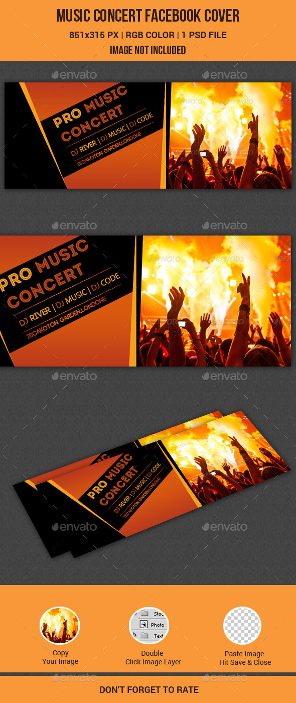 GraphicRiver Musical Concert Facebook Cover 11386695