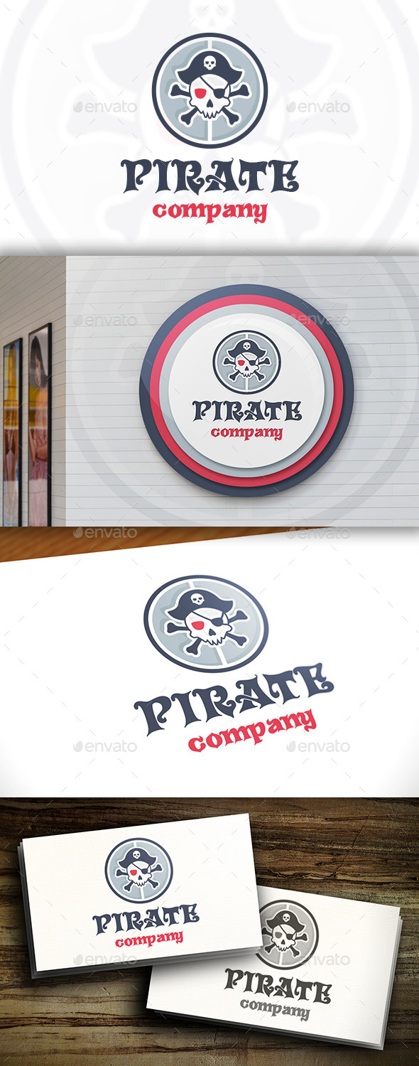 GraphicRiver Pirate Team Logo 11395304