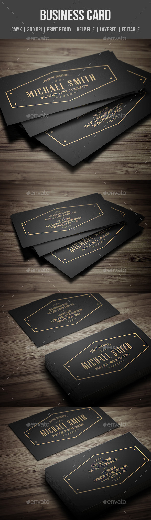 GraphicRiver Vintage Personal Business Card 11395327
