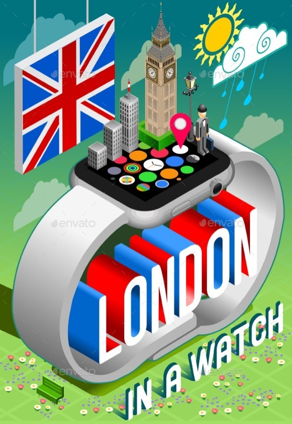 GraphicRiver London in a Watch 11395355