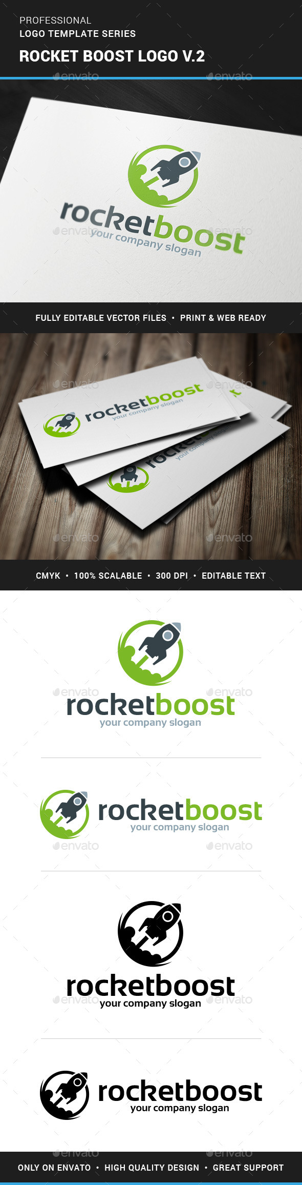 GraphicRiver Rocket Boost Logo Template v2 11395387