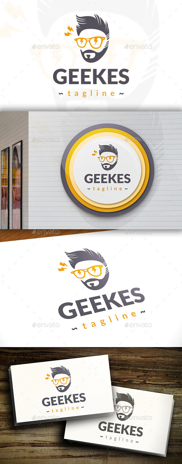 GraphicRiver Smart Geek Logo 11395692