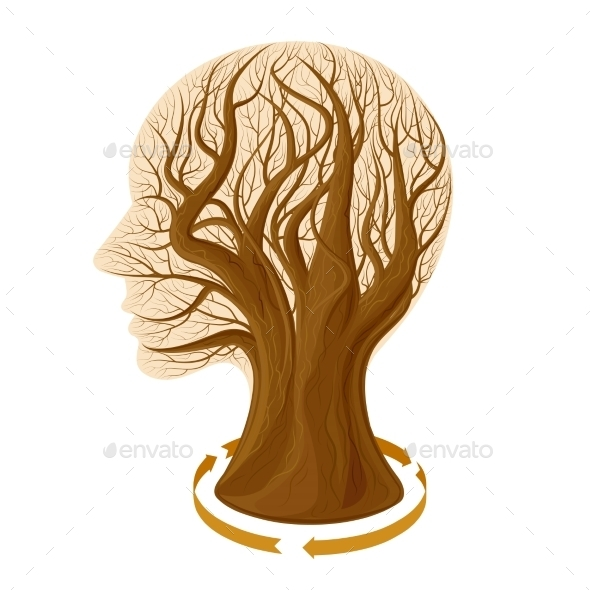GraphicRiver Tree Head 11395698