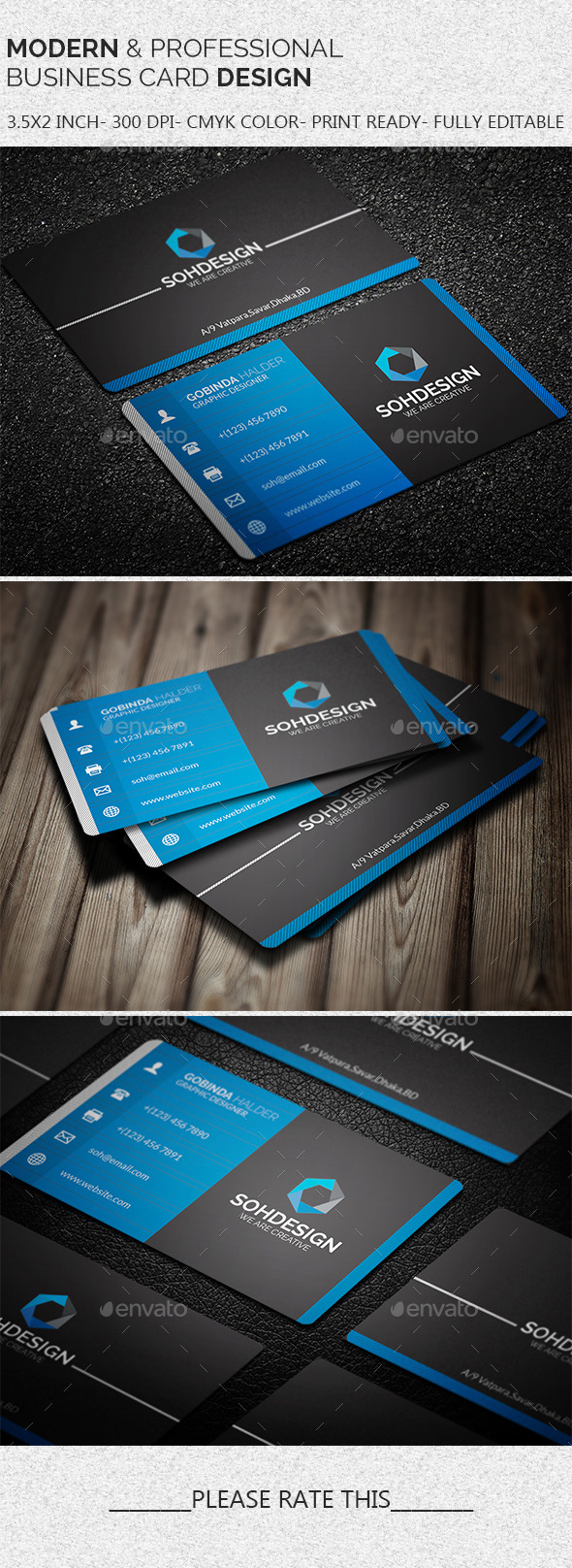 GraphicRiver Modern & Professional Business Card Template 11395945