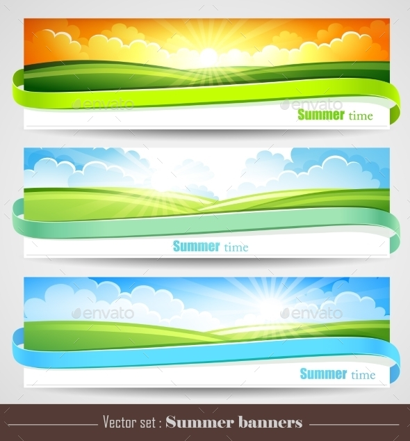 GraphicRiver Set of Summer Banners 11395955