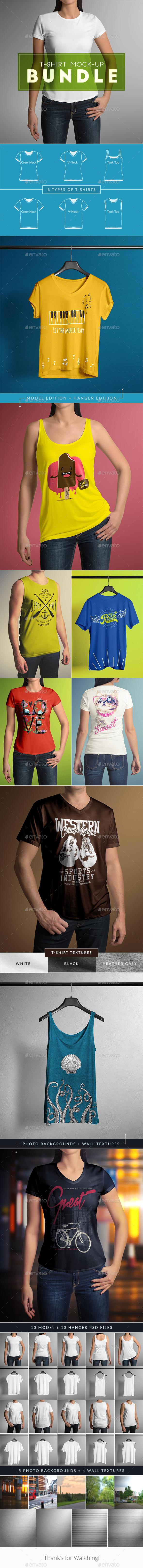 GraphicRiver T-Shirt Mock-Up Bundle 11395994