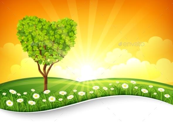 GraphicRiver Summer Landscape 11395997
