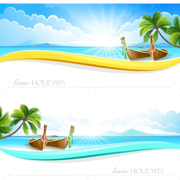 GraphicRiver Paradise Island Backgrounds 11396041