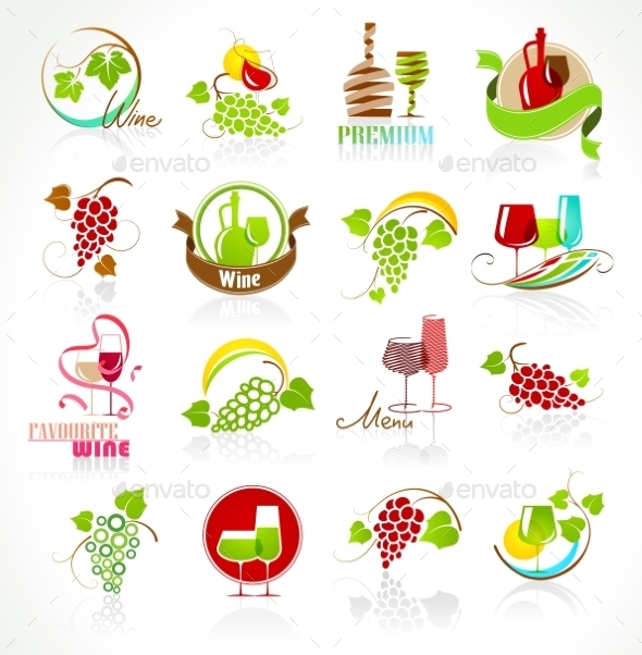 GraphicRiver Collection of Wine Icons 11396069