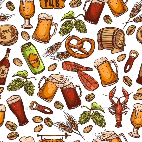 GraphicRiver Beer Seamless Pattern 11396271