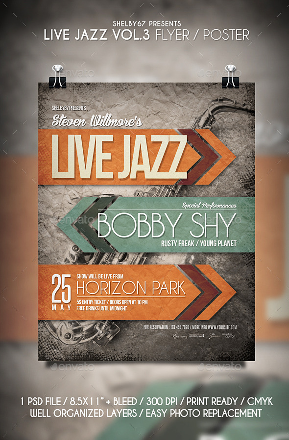 GraphicRiver Live Jazz Flyer Templates Vol.3 11396458