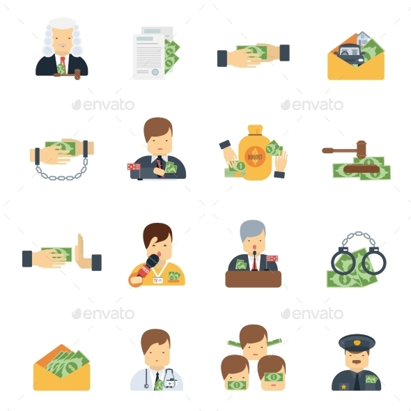 GraphicRiver Corruption Icons Flat 11396621