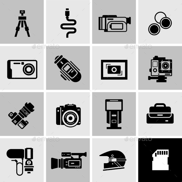GraphicRiver Camera Icons Black 11396900