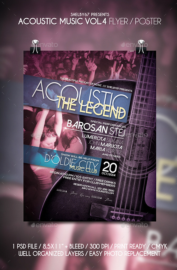 GraphicRiver Acoustic Music Flyer Templates Vol.4 11396951