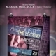 Acoustic Music Flyer Templates Vol.4 - GraphicRiver Item for Sale