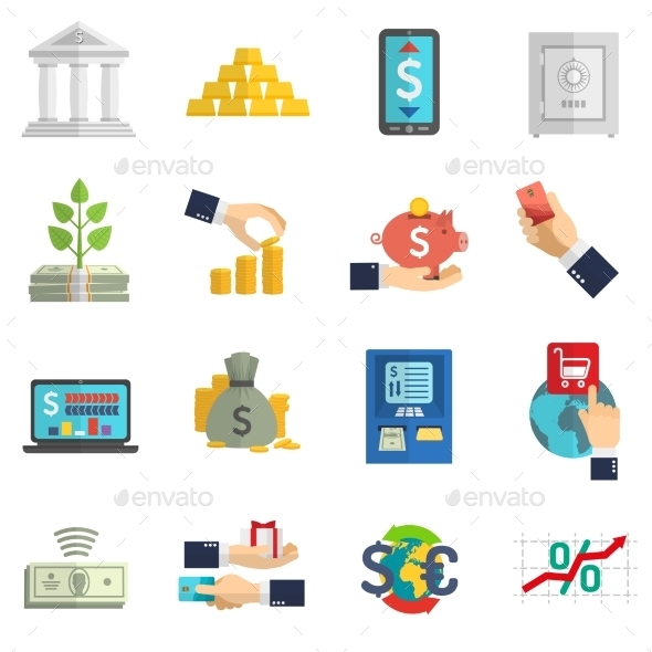GraphicRiver Banking System Icons Set 11397726