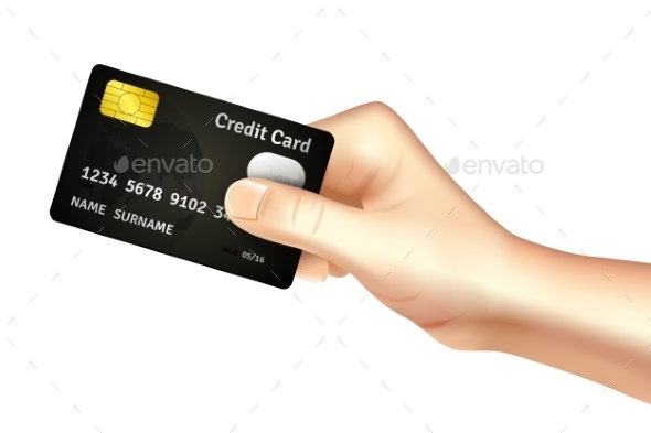 GraphicRiver Hand Holding Credit Card Icon 11397830
