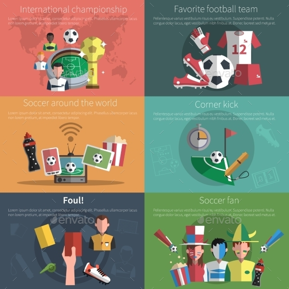 GraphicRiver Soccer Mini Poster Set 11397940