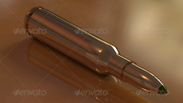 Photorealistic High-Poly/Res Bullet  - 3DOcean Item for Sale