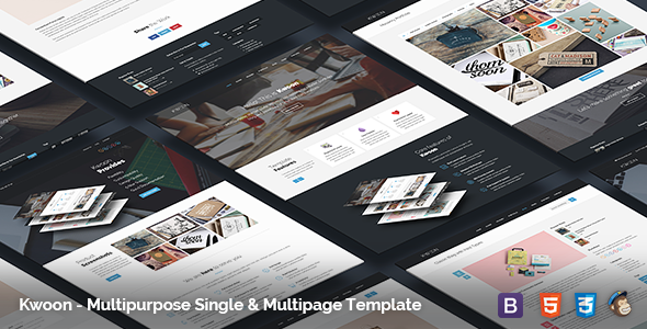 ThemeForest Kwoon Multipurpose Single Multi-page Template 11398731