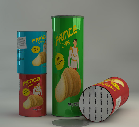 3DOcean Potato Chips Can 11399295