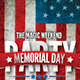 Memorial Day n 4th July 2015 Flyer Template - GraphicRiver Item for Sale
