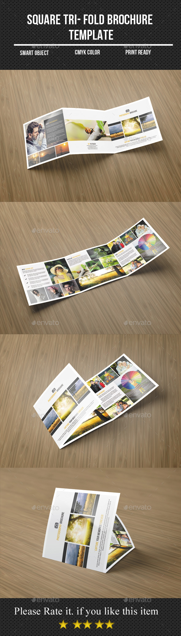 GraphicRiver Square Tri-Fold Photography Brochure 11399877