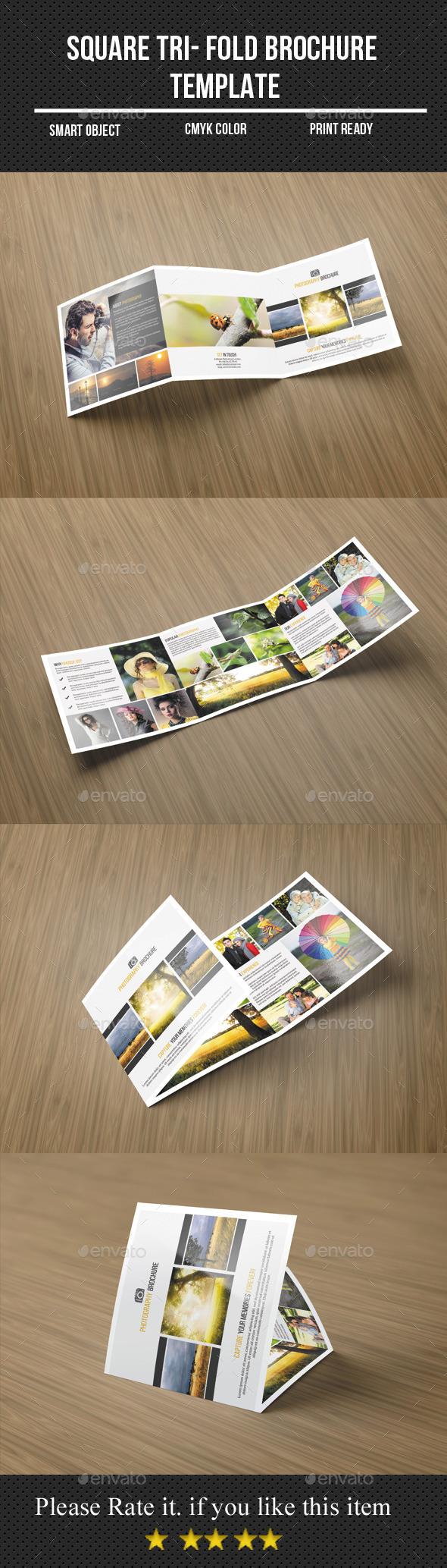 GraphicRiver Square Tri-Fold Photography Brochure 11399877