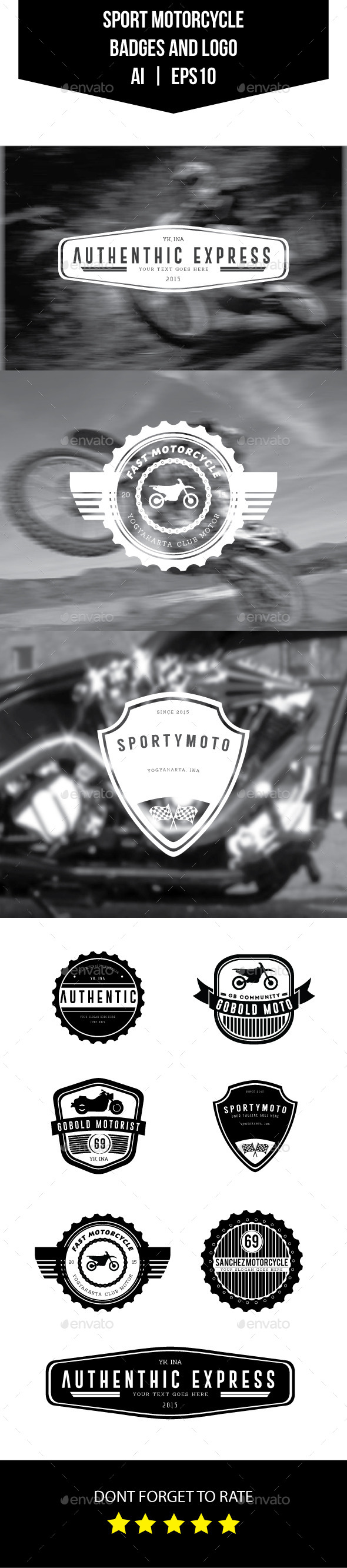 GraphicRiver Sport Motorcycle Badges and Logo 11399989