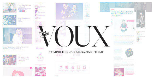 ThemeForest The Voux A Comprehensive Magazine Theme 11400130