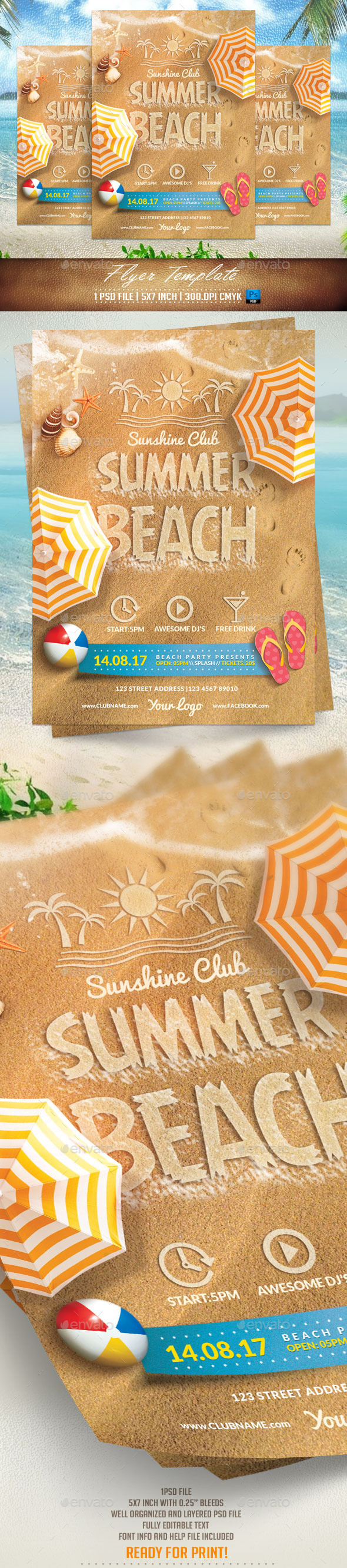 GraphicRiver Summer Beach Flyer Template 11400273