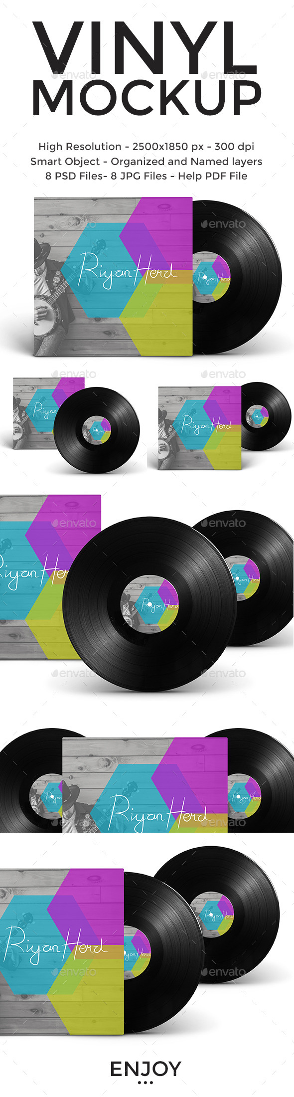 GraphicRiver Vinyl and Cover Mockup 11342338