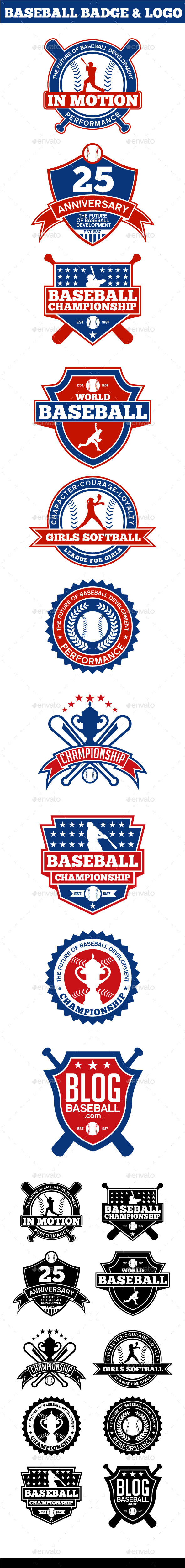 GraphicRiver Baseball Badge & Logo 11341715