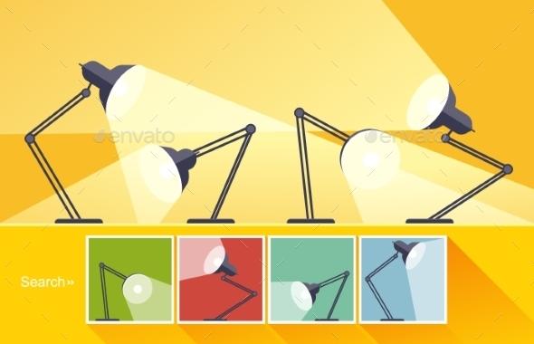 GraphicRiver Concept Reading-Lamp 11400552