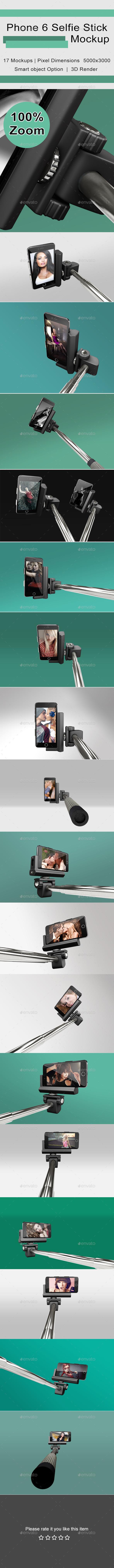 GraphicRiver Phone 6 Selfie Stick Mockup 11400673