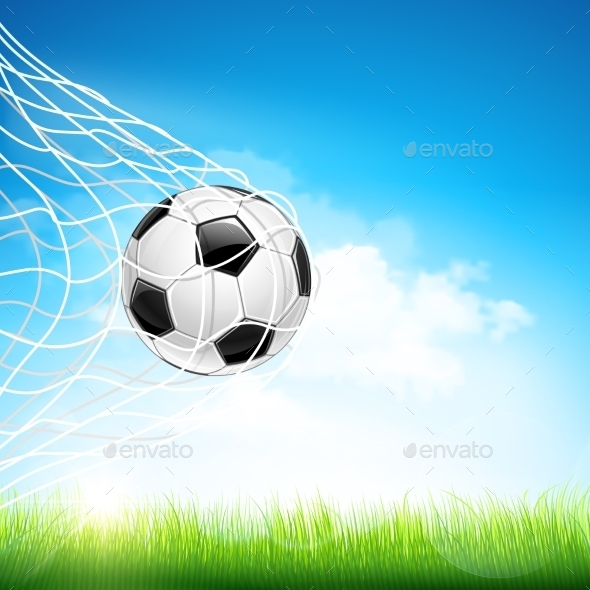 GraphicRiver Soccer Ball in Goal 11400705