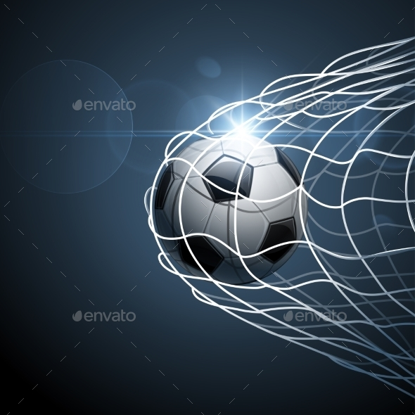 GraphicRiver Soccer Ball in Goal 11400713