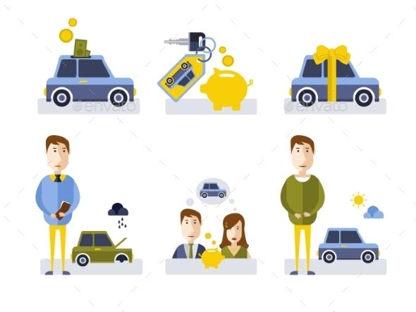 GraphicRiver Car Icons 11400849