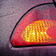 Flashing Car Back Light In The Rain - VideoHive Item for Sale