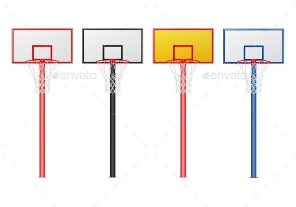 GraphicRiver Basketball Hoops Set 11401066