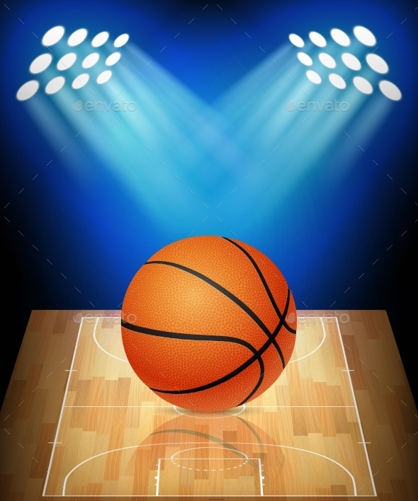 GraphicRiver Basketball Court with Spotlights 11401321
