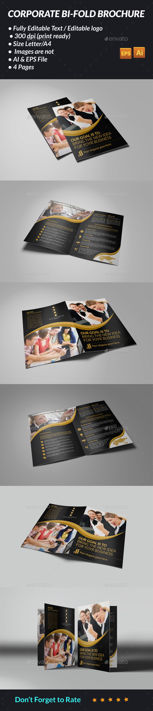 GraphicRiver Corporate Bi-Fold Brochure 11401350