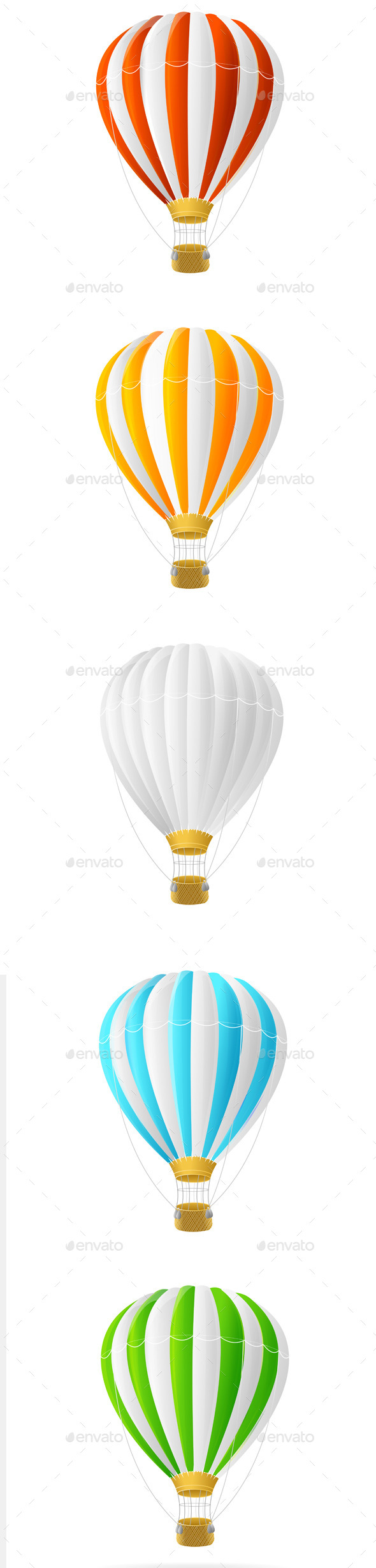 GraphicRiver Hot Air Balloon Set 11401529