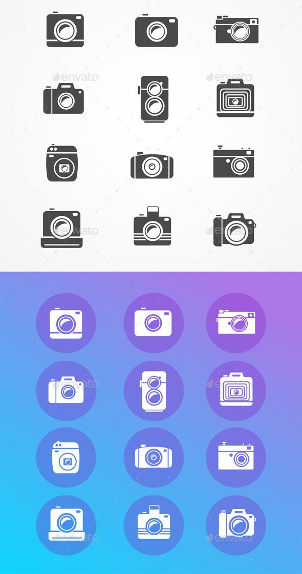 GraphicRiver Photo Camera Icons Set 11401547