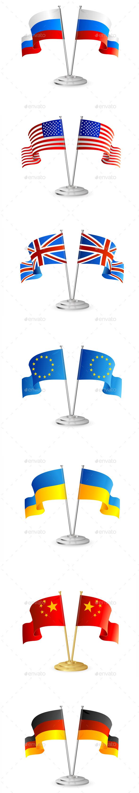 GraphicRiver Table Flag Set 11401605